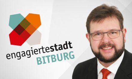 Unterstützungsbrief der Stadt Bitburg zur Antragstellung des Caritasverbandes Westeifel e.V. für die Phase III Engagierte Stadt Bitburg